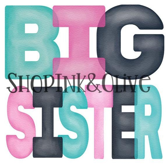 Big Sister Watercolor Shirt