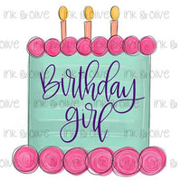 Birthday Girl Cake Candles