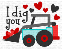 Valentine's Day I Dig You Truck