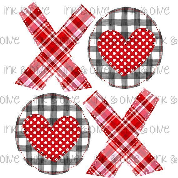 Love XOXO Hearts Valentine's Day