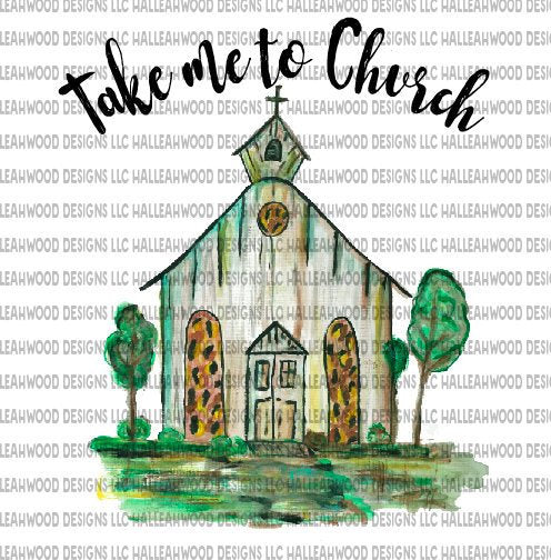 Take Me To Church Watercolor