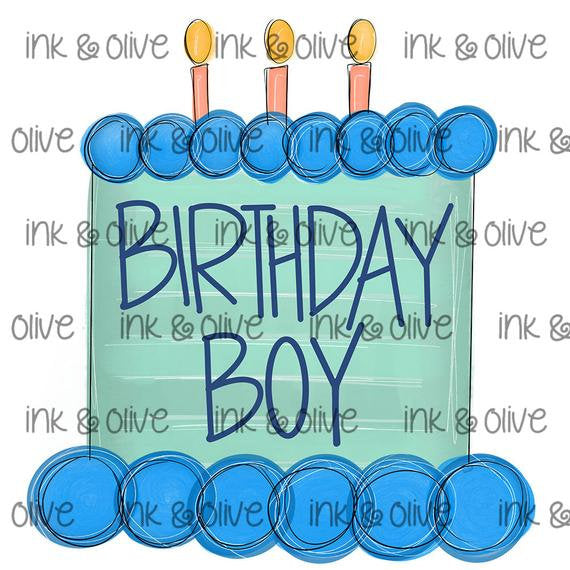 Birthday Boy Blue Cake