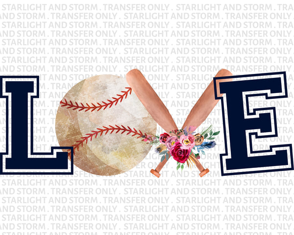 Love Baseball Mom Floral