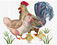 Chicken Family Chick Hen Rooster