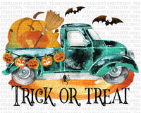 Trick Or Treat Vintage Truck Halloween