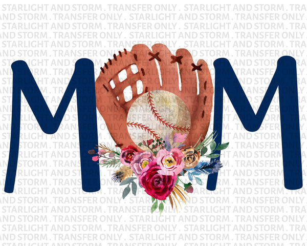 Baseball Mom Glove Floral