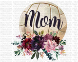 Floral Volleyball Mom