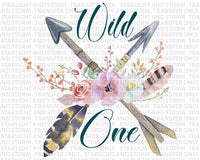 Wild One Floral Watercolor