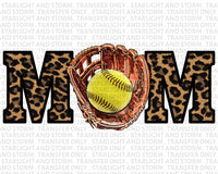 Softball Mom Leopard Print
