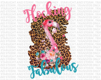 Flocking Fabulous Flamingo Leopard Print