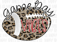 Football Cheetah Game Day Vibes – Black and Red