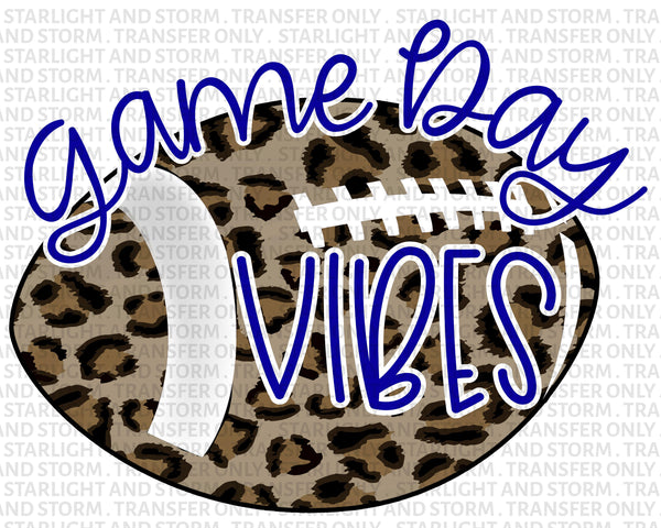 Football Cheetah Game Day Vibes – Blue