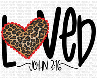 So Loved John 3:16 Valentine