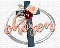 Chosen Floral Cross