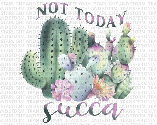 Not Today Succa Cactus