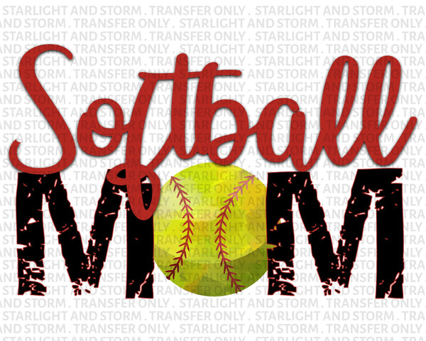 Softball Mom Grunge Distressed