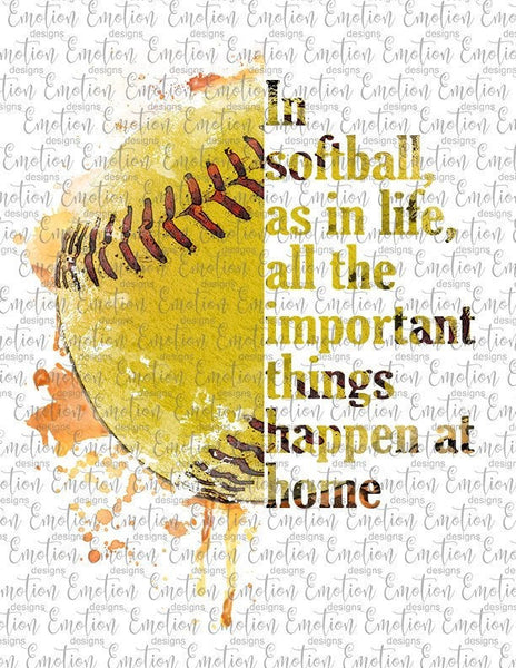 In Softball As In Life