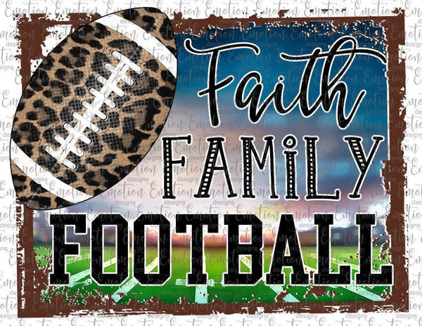 Faith Family Football Mom