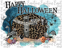 Halloween Cheetah Print with Trailer