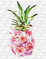 Watercolor Floral Pineapple
