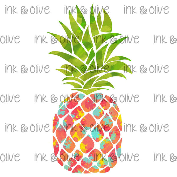 Watercolor Pineapple