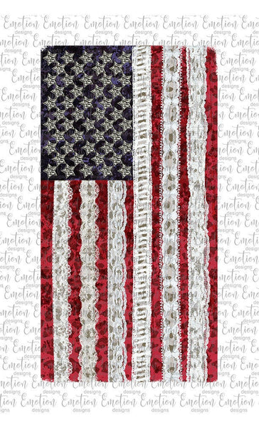 USA Flag Leopard and Lace