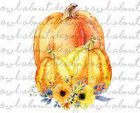 Pumpkins Fall Floral
