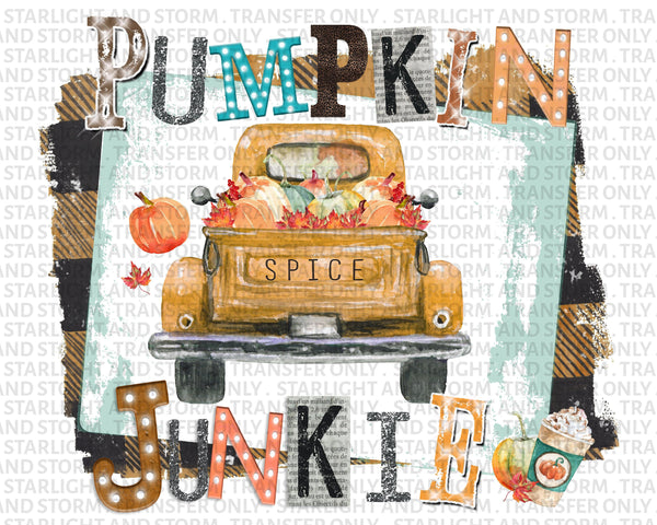 Halloween Vintage Truck with Pumpkins