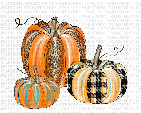Pumpkin Plaid Leopard Fall