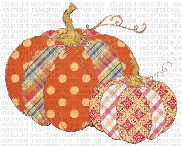 Patchwork Plaid Pumpkin Fall