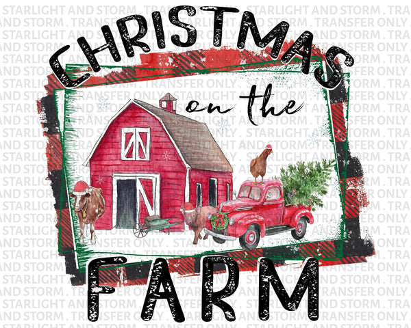 Christmas on the Farm Plaid Barn