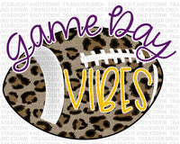 Football Cheetah Game Day Vibes – Purple and Gold
