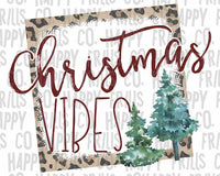 Christmas Vibes Christmas Trees Leopard