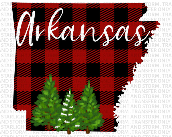 Arkansas Christmas Buffalo Plaid