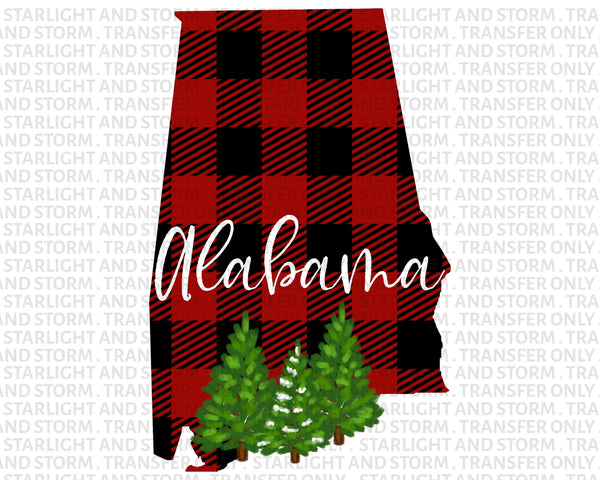 Alabama Christmas Buffalo Plaid