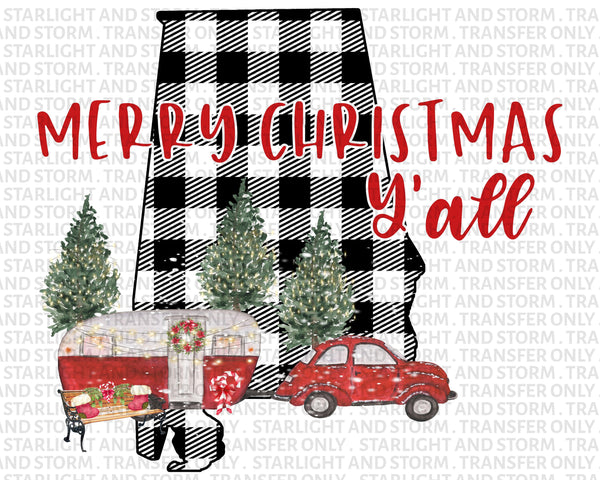 Alabama Christmas Merry Christmas Y'all
