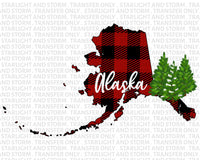Alaska Christmas Buffalo Plaid
