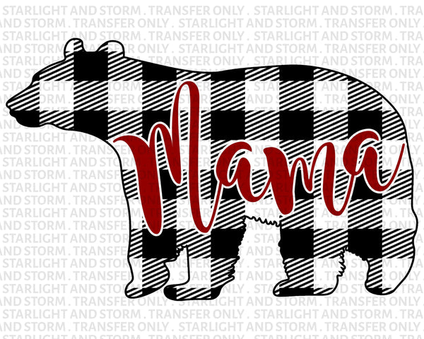 Mama Bear Christmas Buffalo Plaid