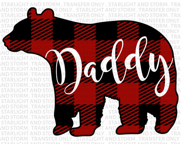Daddy Bear Christmas Buffalo Plaid