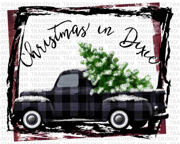Merry Christmas Tree And Truck