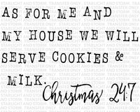 As For Me And My House We Bake Christmas Cookies