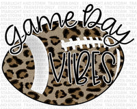 Football Cheetah Game Day Vibes – Black