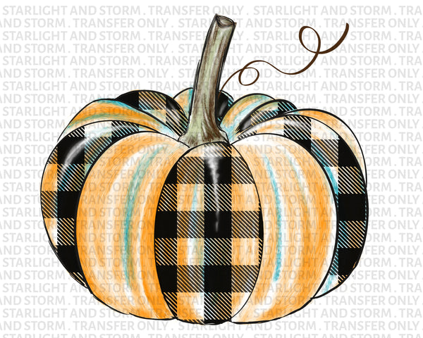 Pumpkin Buffalo Plaid Fall