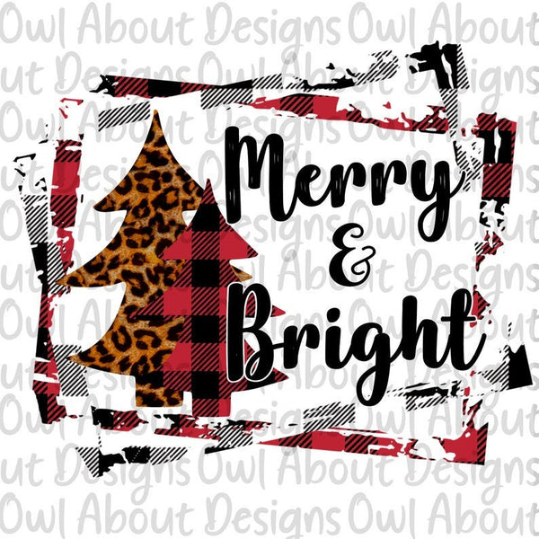 Merry Bright Leopard Christmas Trees