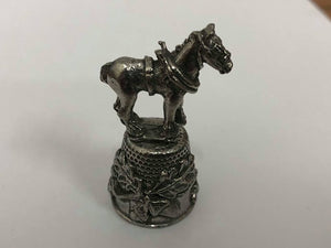 Horse Pewter Thimbles