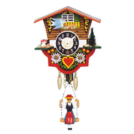 Swinging Girl Quartz Clock