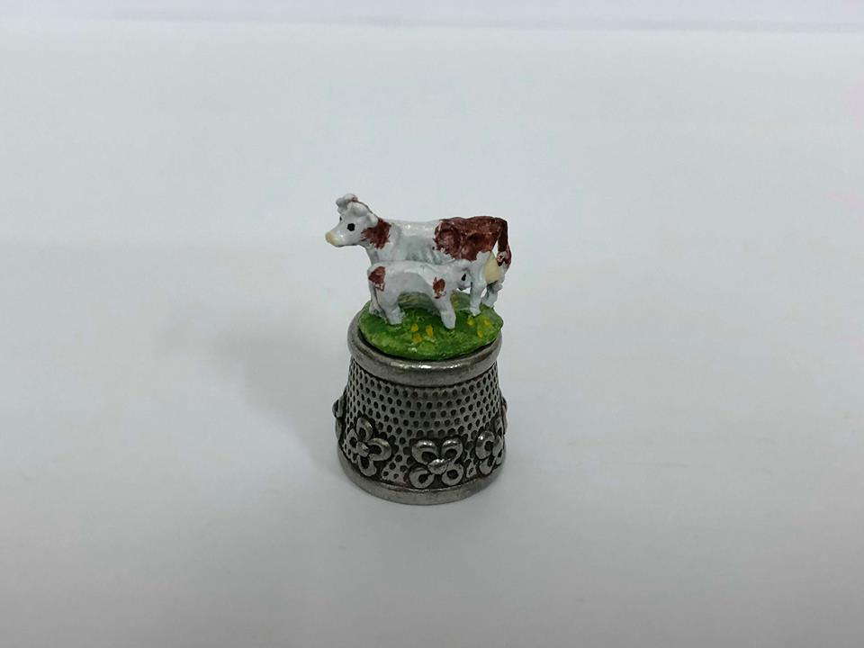 Cow Pewter Thimble