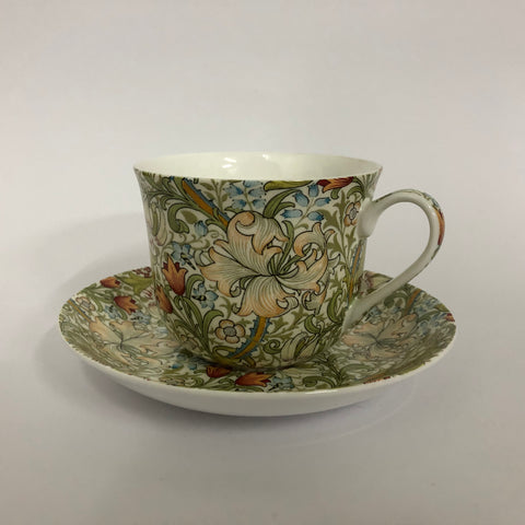Golden lilies breakfast cup & saucer