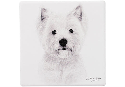 Delightful Dogs West Highland Ceramic Coaster