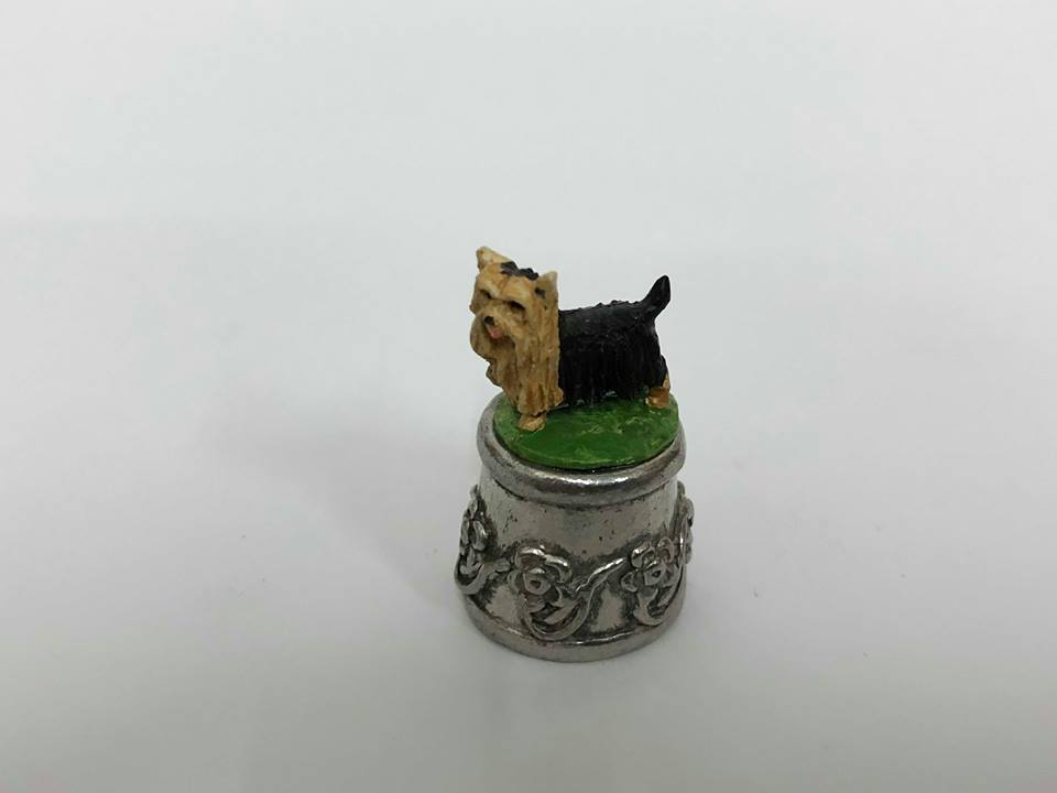 Dog Pewter Thimbles